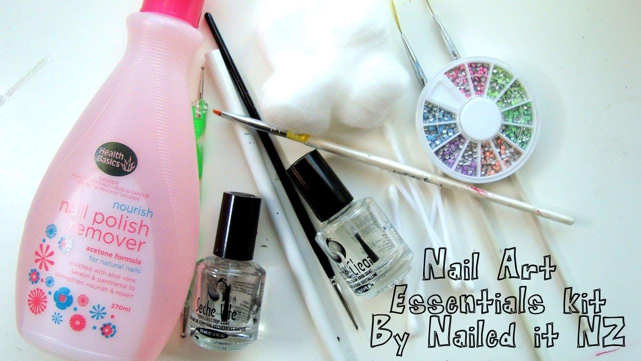 Nail Art Essentials Kit - YouTube
