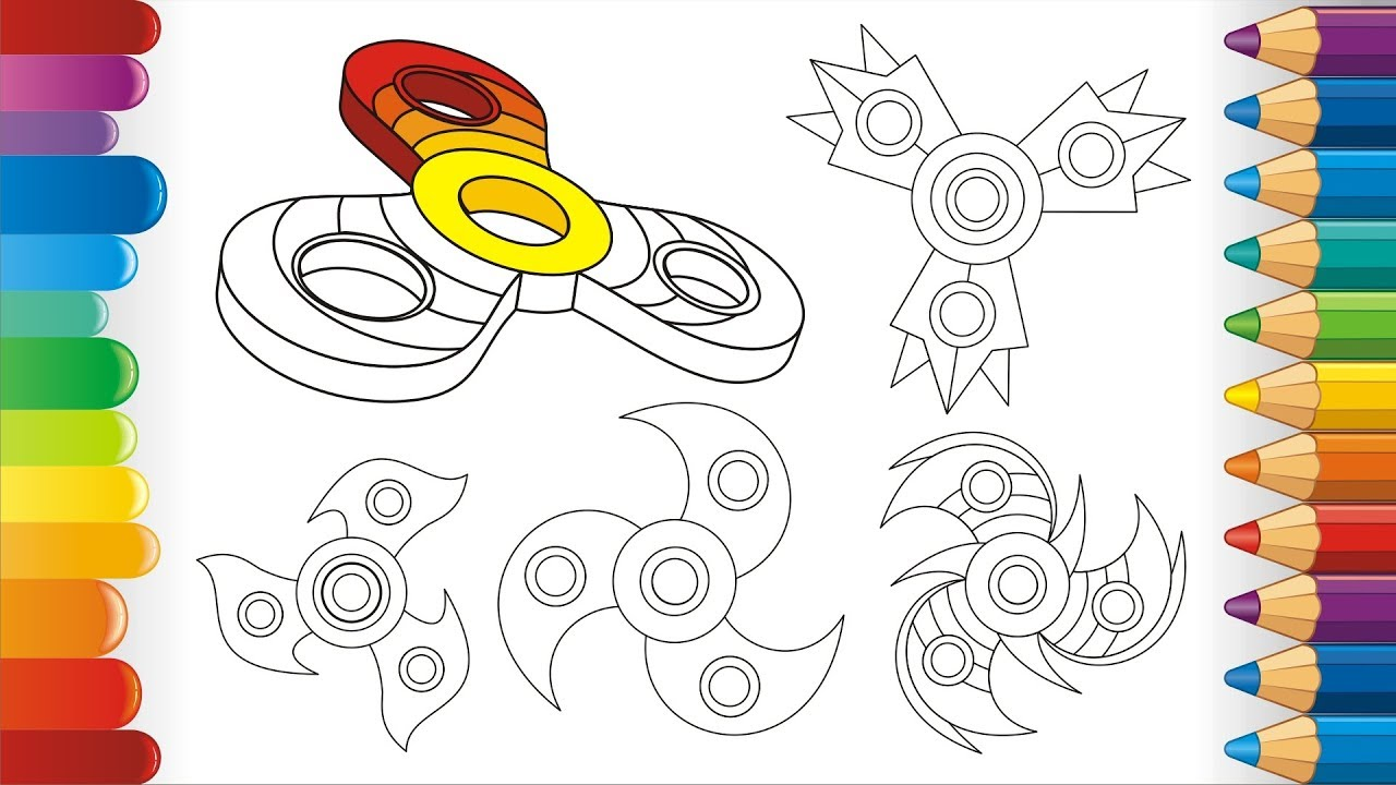 how to draw fidget spinner