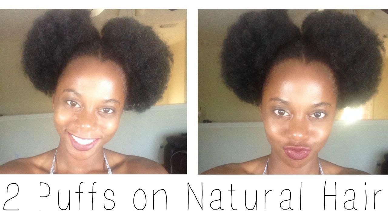 2 Afro Puffs Of Natural Hair YouTube