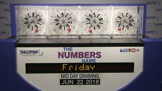 Midday Numbers Game Drawing: Friday, June 22, 2018 thumbnail