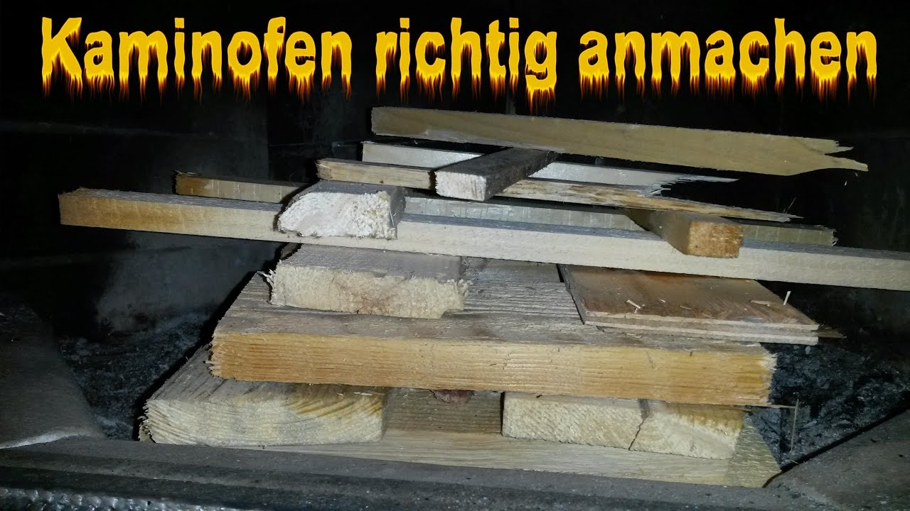 kaminofen richtig anz nden ofen anfeuern kaminfeuer anmachen kamin anleitung youtube. Black Bedroom Furniture Sets. Home Design Ideas