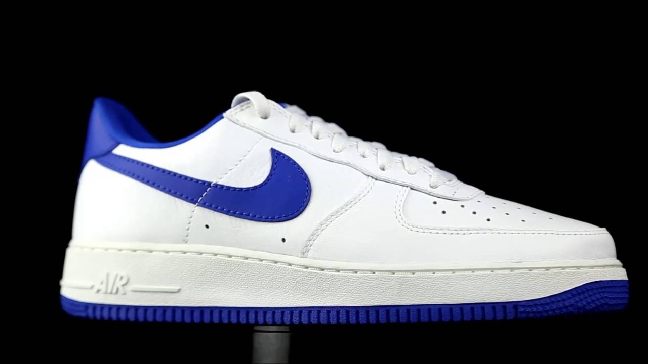 88a8d6202939d Nike Air Force 1 White-blue - YouTube