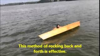 How To Canoe, Re-entering a Tipped Canoe in deep water. Free Boat Plans at BoatBuilderCentral.com