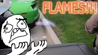 INSANE REV BATTLE CARS SHOOTING FLAMES !!! ( SETTING OFF CAR ALARMS!!! )
