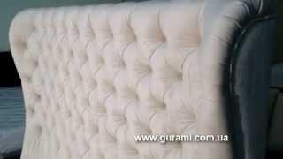Спинка кровати с пуговицами на заказ