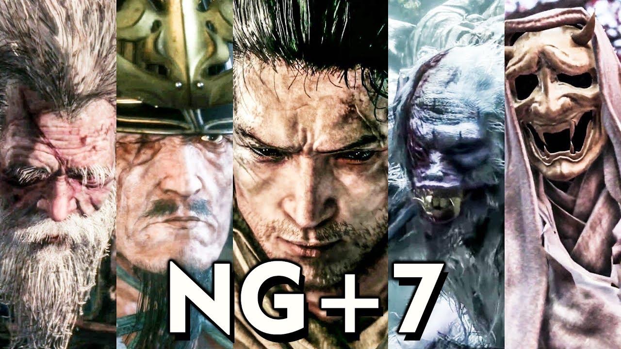 Download Sekiro NG+7 - All Boss Fights (No Kuro Charm / Bell Demon / No-Damage)