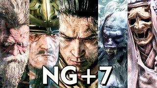 Sekiro NG+7 - All Boss Fights (No Kuro Charm / Bell Demon / No-Damage)