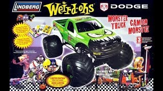 Lindberg Weird-Ohs Dodge Ram 1/24 Monster Truck Model Kit Complete