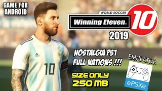 Gambar cover Nostalgia !!! Download Game Bola PS1 Di Android | Winning Eleven 2019 [250 mb] - ePSXe Emulator