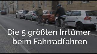 Die 5 größten Irrtümer beim Fahrradfahren