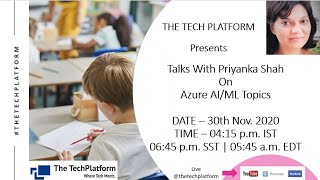 Azure Artificial Intelligence / Machine Learning Topic   Session 2   Talks Academy