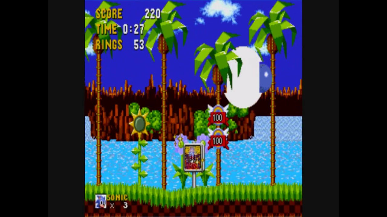 Sonic The Hedgehog Green Hill Zone Act 1 Speed Run 27 Seconds Youtube
