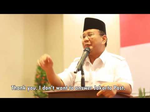"Momen Prabowo Ngamuk Ke Wartawan, ""Koran Kamu Itu Brengsek"", ""Siapa Suruh Dia Masuk Sini?"""