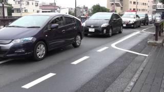 パトカーが大音響の女声録音放送でお説教中 神奈川県警察