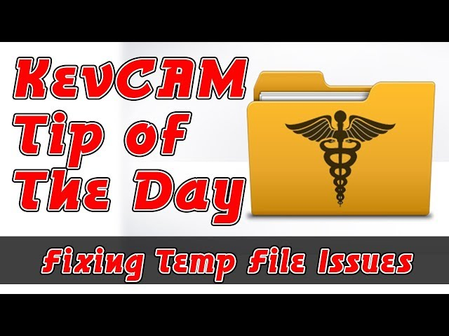 Tip of the Day - Fixing Temp File