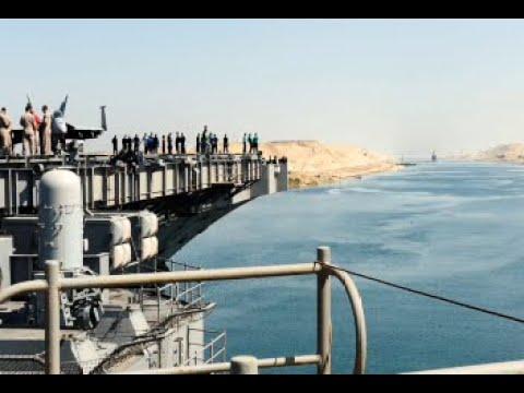 USS George H.W. Bush Transits the Suez Canal