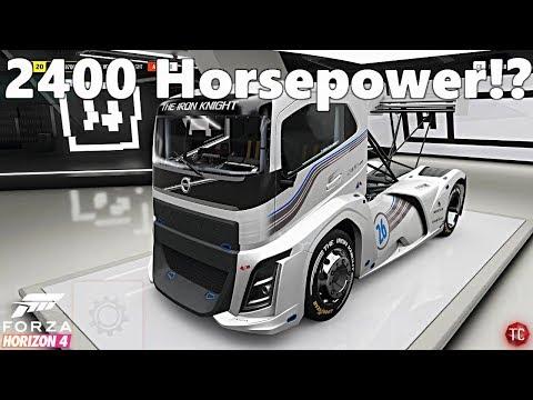 Forza Horizon 4: Let's Play   This Truck Makes 2400 HORSEPOWER!? VOLVO IRON KNIGHT BUILD!!