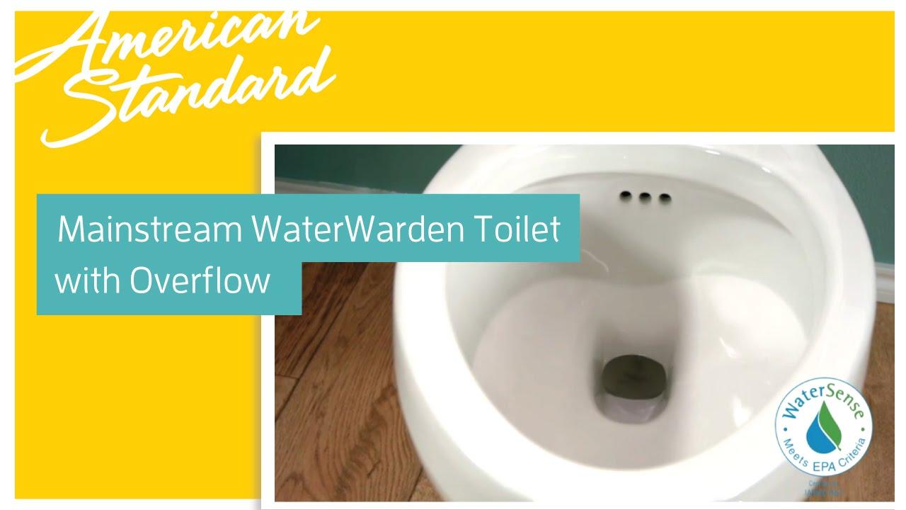 Toilet with Overflow - American Standard Mainstream WaterWarden ...