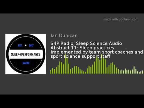 Sleep practices implemented by team sport coaches and sp