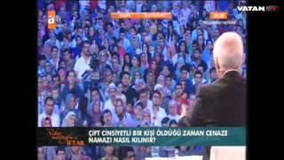 '' Bülent Ersoy'un cenaze namazı ER kişi niyetine kılınacak.'' Prof. Dr. Nihat Hatipoğlu 2017 Video