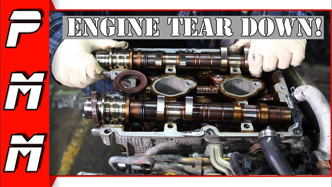 Subaru Legacy GT Head Gasket Replacement Pt 1 EJ25 Engine Tear Down WRX STI