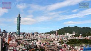 FULL HD 1080P 美的因 台北 夏天 陽光 城市 建築 101 藍天 白雲 S W0446a