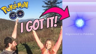 I CAUGHT THE RAREST POKEMON IN POKEMON GO! Catching Mew on Viking Mountain!
