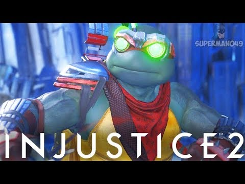 "1012 DAMAGE COMBO WITH EPIC RAPHAEL! - Injustice 2 ""Ninja Turtles"" Pizza Party Gameplay"