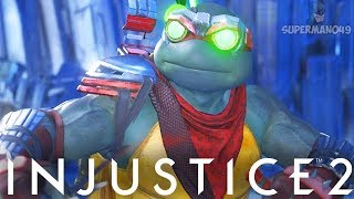"1012 DAMAGE COMBO WITH EPIC RAPHAEL! - Injustice 2 ""Ninja Turtles"" ..."