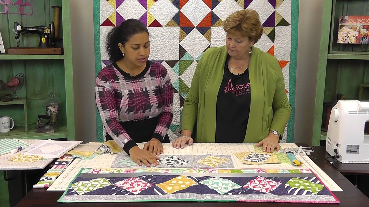 Twist 10 Table Runner Tutorial with Jenny Doan of Missouri Star ... : quilting videos on youtube - Adamdwight.com