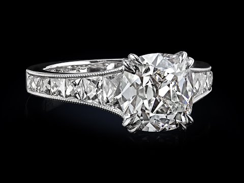 2.54 True Antique™ Cushion diamond in Mon Cheri™ by Leon Meg