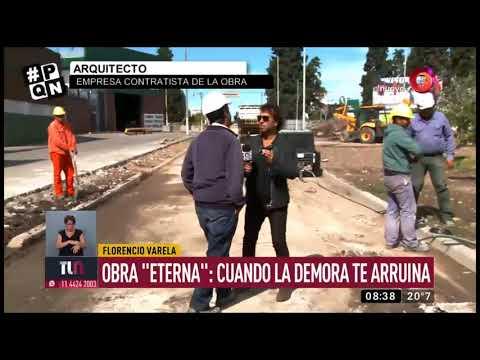 Florencio Varela: obra 'Eterna', cuando la demora te arruina