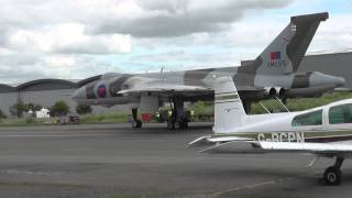 Wings and Wheels 2015 featuring Vulcans XH558 and XM655