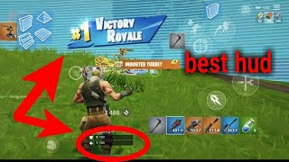 Fortnite mobile cleaning titled tower with IPHONE Xs MAX - best hud for iphone easiest 4 finger claw