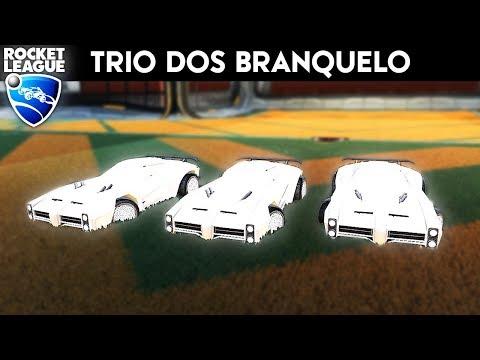 O TRIO DOS BRANQUELO! (ft. KillerLordBR & NERO) - Rocket League thumbnail