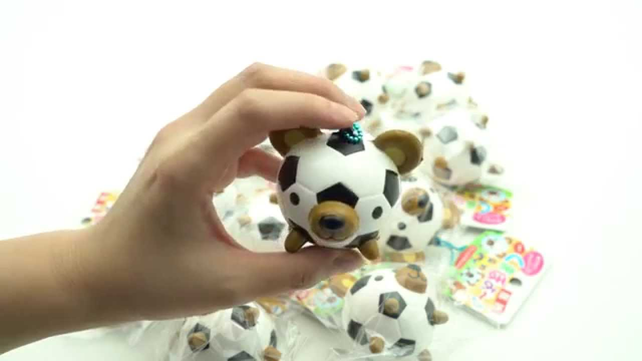 Squishy Soccer Ball Pillow : Teddy bear soccer ball squishy charm - YouTube