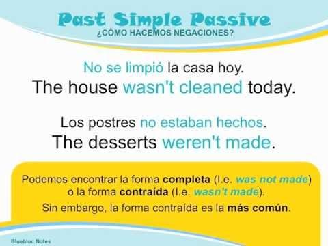 Gramática Inglés Voz Pasiva En Pasado Simple