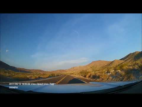 San Diego to Anza Borrego Desert State Park (Mustang Dash-cam view)