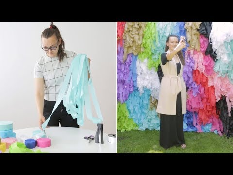 DIY: A Photo Booth Backdrop Worthy Of Instagram
