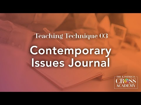 teaching-technique-03:-contemporary-issues-journal