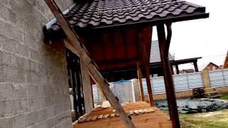 Дом из керамзитобетонных блоков с террасой и баней(Обзор строительства дома из блоков. Что называется