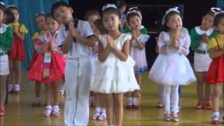 North Korea: Kindergarten Performance in Chongjin, Opening 北朝鮮清津市幼稚園児パフォーマンスのオープニング