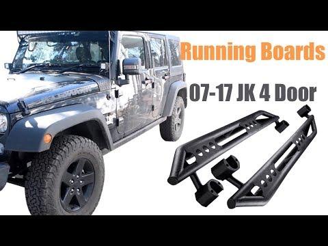 How to Install Running Boards for 07-17 Jeep Wrangler Jk 4 Door