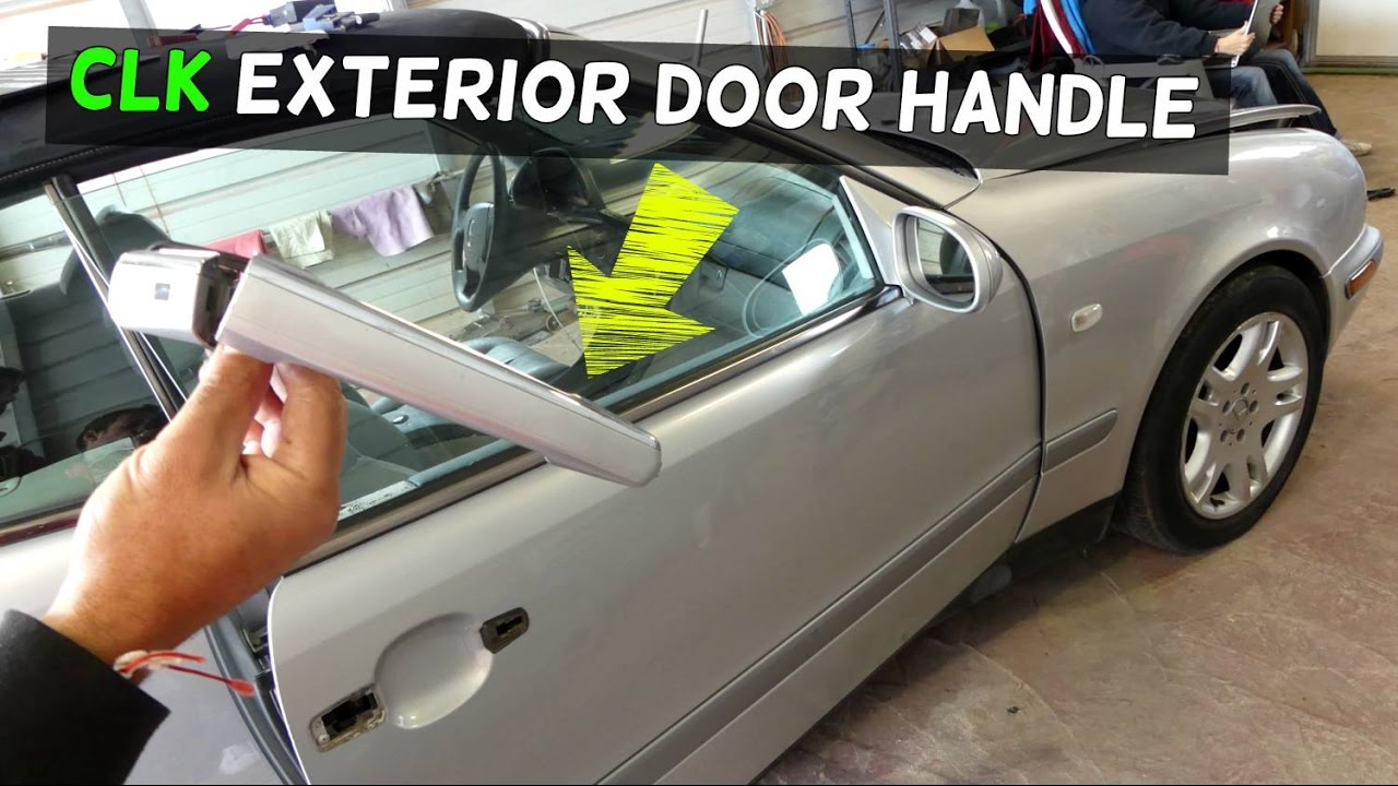Mercedes Clk W208 Exterior Door Handle Removal Replacement Clk230 Clk320 Clk430 Clk200 Youtube