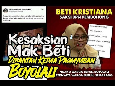 Kesaksian Beti Kristiana Disanggah Ketua Paguyuban Masyarakat Boyolali  Nyoh!