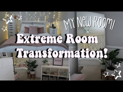 EXTREME ROOM MAKEOVER / TRANSFORMATION! (Aesthetic + vsco inspired)