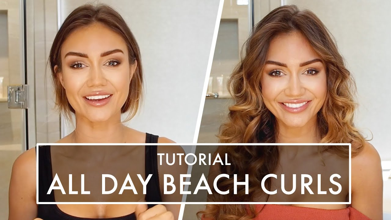 Hair Tutorial All Day Beach Curls In Just 10 Minutes