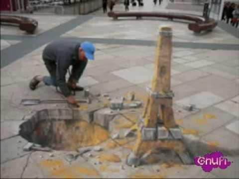 Gnupi julian beever disegni di strada in prospettiva for Disegni di case in prospettiva
