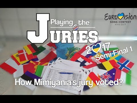 Playing the Juries 2017 - Results of the Semi-Final 1 (Eurovision 2017)