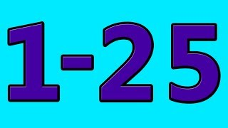 Simple Learning To Count To 25 Counting 1 To 25 Numbers For Kids Toddlers Preschool Children